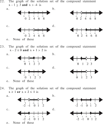 the graph of the solution set of the compound statement x 2 0 and x