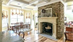 fake stone fireplace best faux stone fireplaces ideas on rustic
