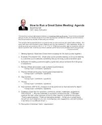 Sales Meeting Agenda One On Meeting Agenda Template 1 Sales Doc First Sample