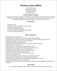 1 Real Estate Assistant Resume Templates Try Them Now