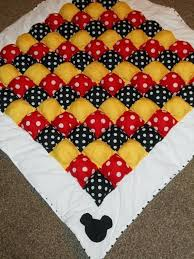 Mickey Mouse Minnie Mouse Inspired Bubble Quilt Puff Quilt Disney ... & Mickey Mouse Minnie Mouse Inspired Bubble Quilt Puff Quilt Disney Cross  Stitch Baby Quilts Disney Cross Adamdwight.com