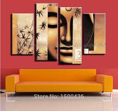 >wall art captivating 4 piece wall art set gallery wall decor sets  mysterious mask oil painting large four piece wall art set brown bamboo electric design contemporary living