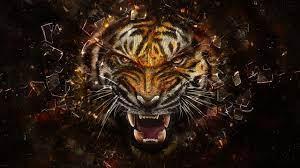 abstract, Tiger, Animals, Digital Art ...