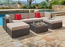 Amazon Suncrown Outdoor Furniture Sectional Sofa Set 7