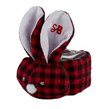 Baby Boos Designs Stephan Baby Boo Bunnie Comfort Toy Boo Cube Red Black Flannel