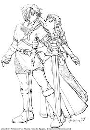 Small Picture zelda coloring pages link and zelda by meibatsu fan art manga