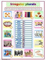 English Exercises Irregular Plurals