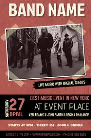 Concert Flyer Templates Free Create Free Concert Flyers In Minutes Postermywall