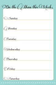 Free Weekly Menu Planner Elim Carpentersdaughter Co