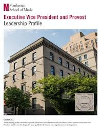 Executive Vice President And Provost Leadership Profile By