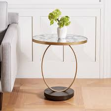 mirrored side table. Mirrored Side Table