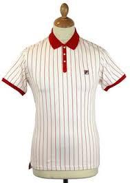 fila vintage polo. fila vintage men\u0027s retro bjorn borg polo in red/ecru s
