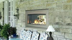 indoor outdoor fireplace australia see through wood nz