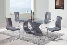 Modern Glass Dining Table Modern Glass Dining Table Top Come With Rectangular Shaped And
