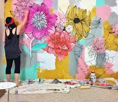 alisaburke bedroom makeover home decor designs flower muralflower wallbedroom