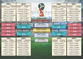 World Cup Planner Chart 2018 Russia 2018 Football World Cup Premium Poster Wall Chart Size A3 A2 Large
