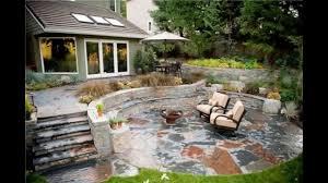 home design backyard stone patio