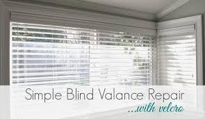 diy simple blind valance repair simply organized