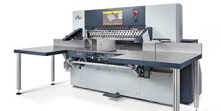 at the local trade fair druckform in sinsheim polar presented its new style high speed cutter for the first time polar cutting machine