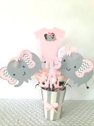 elephant baby shower decorations pink and gray baby shower centerpieces baby shower pink and gray elephant