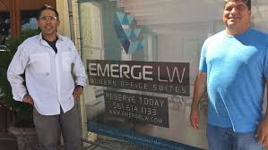office spaxe. Ray Maranges And Richard Cruz, Co-owners Of Hummingbird Partners, LLC, The  Men Behind Emerge Lake Worth, A New Office Space Complex At 631 Lucerne Avenue. Spaxe