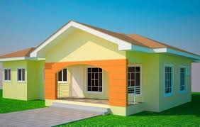 Fascinating House Plans Ghana 3 Bedroom House Plan For A Half Plot In Ghana 3  3