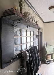 old door into a coat rack
