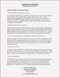 Joint Sponsor Income Chart I 751 Sample Affidavit Of Friends Letter Climatejourney Org