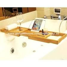 bath tub caddy china bamboo bathtub non slip bath tub tray with extending sides and soap bath tub caddy