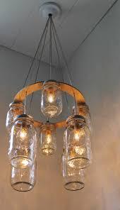 jar lighting fixtures. Rustic Living Room Ideas With Mason Jar Lighting Fixtures, Gray Durable Rope Light Holder, Fixtures O