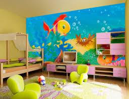 fantastic sea world wall mural boys room decor idea plus green children chairs design and modern blue themed boy kids bedroom contemporary children
