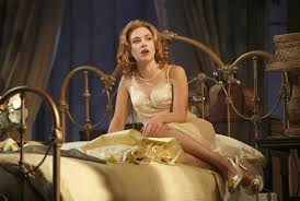 """on broadway      cat on a hot tin roof     is merely tepid   the boston    scarlett johansson in the broadway revival """"cat on a hot tin roof """""""
