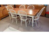 laura ashley bramley dining table with 6 chairs