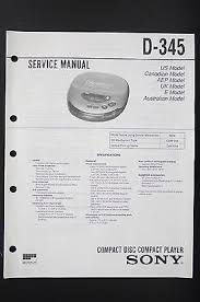 sony d 345 original cd player discman service manual wiring sony d 345 original cd player discman service manual wiring diagram diagram