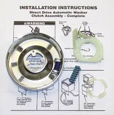 Whirlpool Washer Capacity Chart Whirlpool 3951311 Clutch Kit