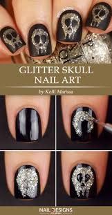 Nail Art Skull Design Creative But Easy Halloween Nails Designs You Can Copy
