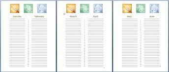 birthday calendar template free download birthday and anniversary calendar template formal word templates