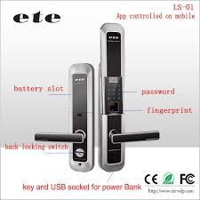Ete Wifi App Anti-theft Digital Touch Screen Password Fingerprint ...