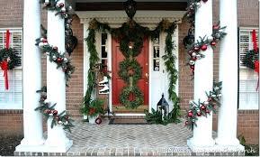 D Hanging Garland Around Front Door How To Hang A  Wreath