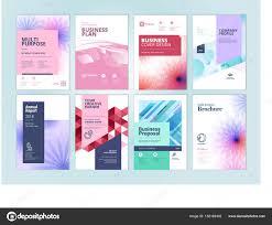 Set Beauty Brochure Annual Report Flyer Design Templates Size Vector