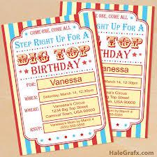 Carnival Birthday Invitations Free Printable Circus Birthday Invitation Set