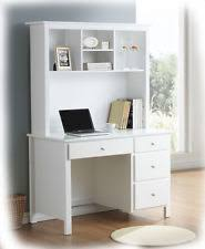 white desk with hutch. Bobby 4 Drawer White Hardwood Timber Desk \u0026 Hutch - Fully Assembled BRAND NEW With