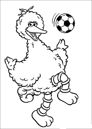 Small Picture Big Bird Playing Soccer Sesame Street Coloring Pages Pinterest