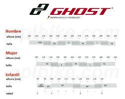Ghost Bikes Mtb Size Chart Aplbike Com