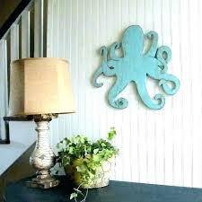 coastal metal wall art beach wall art decor wooden beach decor wooden beach wall decor octopus coastal metal wall art