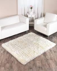 pleasurable rug lovely decoration tetured ivory white sheepskin ft town