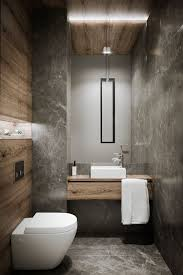 O Using Grey Marble Tiles And Woodlooking Is A Chic Creative  Solution For