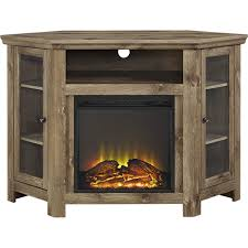 walker edison fireplace tv stand for most tvs up to 50 barnwood