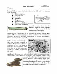 causes of world war one essay history exemplification standards  weapons used in world war i facts information worksheet weapons used in world war i