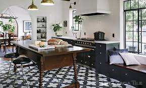 Kitchen tile flooring designs Dutt Stones Concrete Kitchen Floor Tile Badajoz 912 Design In Black And White Pinterest Cement Tiles Portland Concrete Tiles Portland Granada Tile